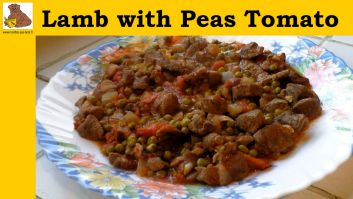 lamb with peas tomato