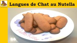 Langues de chat au Nutella