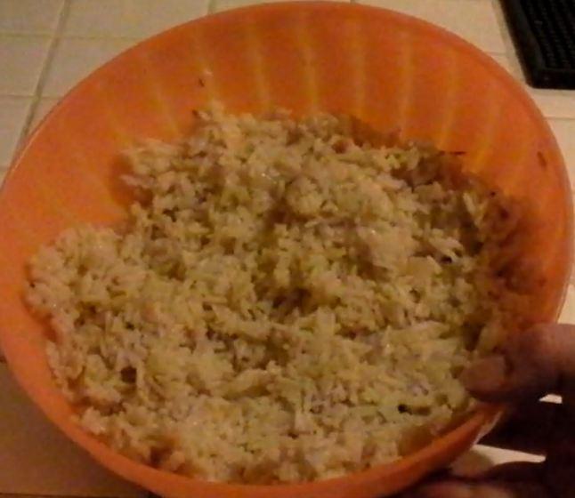 riz aux oignons rapide